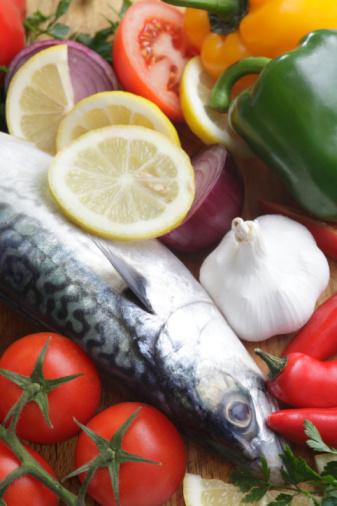 Garlic Clove「Fish and healthy food」:スマホ壁紙(12)