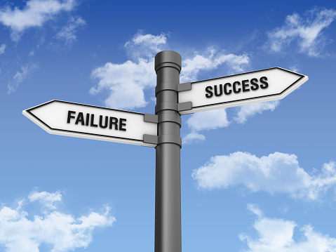 Pole「Directional Sign with Sucess Failure Words」:スマホ壁紙(3)