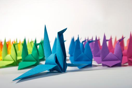 Paper Craft「Paper cranes」:スマホ壁紙(18)