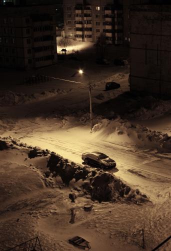 Snowdrift「Winter car lamp」:スマホ壁紙(13)