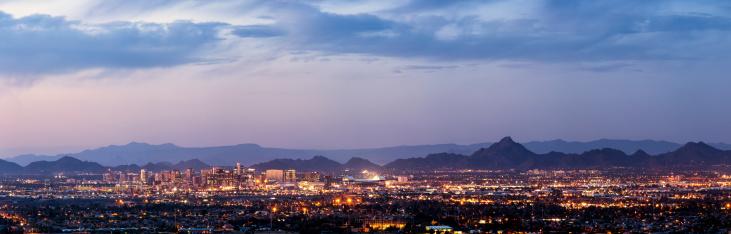 Panoramic「Phoenix and Scottsdale dusk panorama」:スマホ壁紙(8)