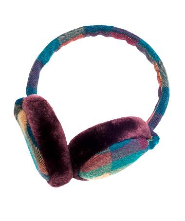 タータンチェック「温かみのある格子柄耳 Muffs :ファンキーなスタイル」:スマホ壁紙(12)