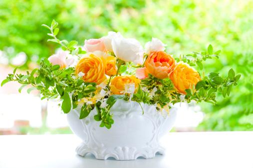 Flower Arrangement「Orange Roses」:スマホ壁紙(7)