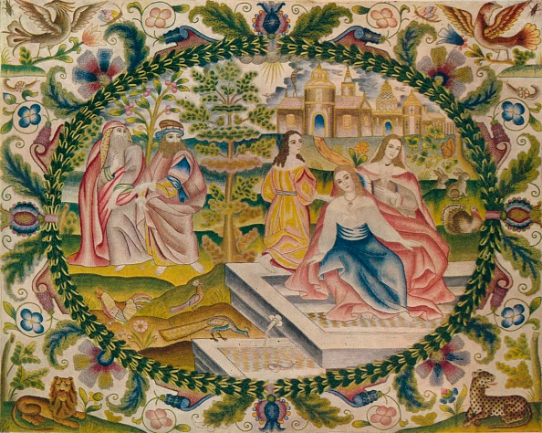 Embroidery「'Embroidered Picture, Mid-17th Century', (1929)」:写真・画像(7)[壁紙.com]