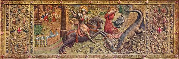 Dragon「'Embroidered front altarpiece of Saint George, from the Palau de la Generalitat', c15th century」:写真・画像(18)[壁紙.com]