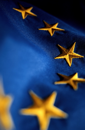 Embroidery「Embroidered European Union (EU) flag, close-up of stars」:スマホ壁紙(12)