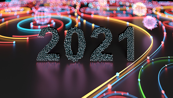 New Year「Digital concept 2021」:スマホ壁紙(4)