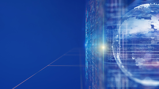 Number「Digital concept networking and big data」:スマホ壁紙(1)