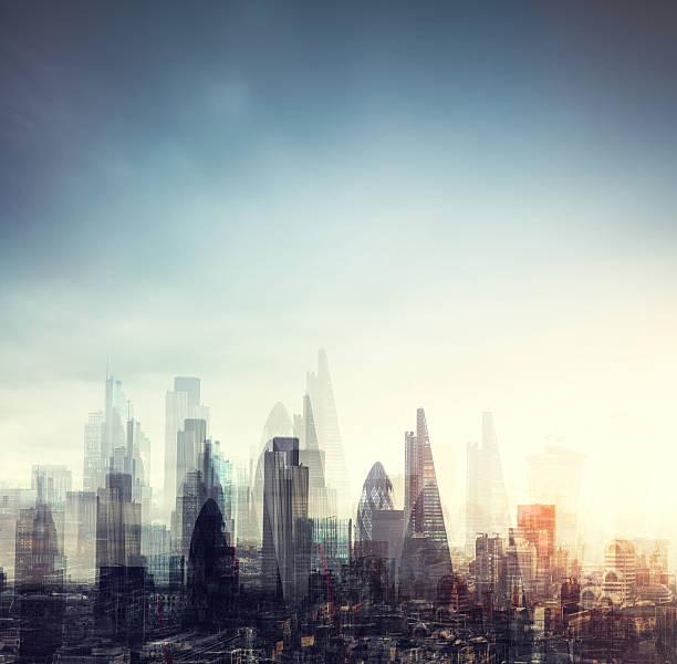 City Of London Multiple Exposure:スマホ壁紙(壁紙.com)
