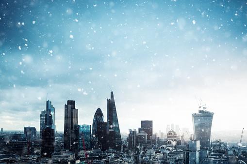 雪「ロンドンの街と、雪」:スマホ壁紙(1)