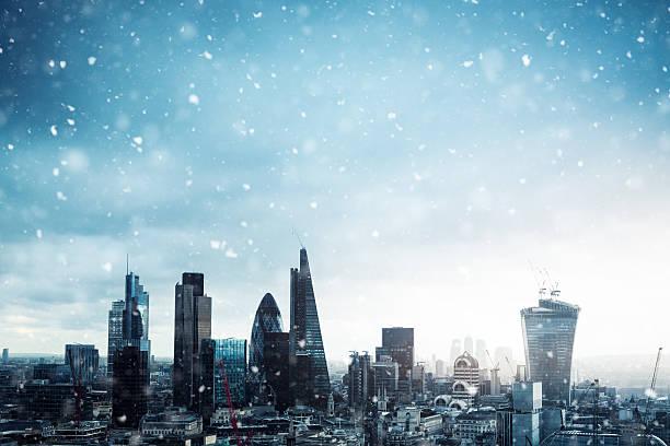 City Of London In Snow:スマホ壁紙(壁紙.com)