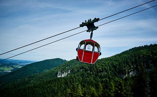 Gondola「Germany, Chiemgau, gondola of Kampenwandbahn」:スマホ壁紙(13)