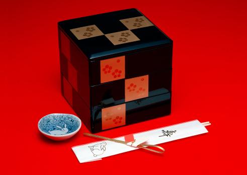 お正月「Tiered Food Boxes」:スマホ壁紙(5)
