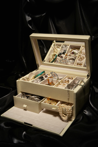 鏡開き「Jewelry box filled with jewelry, elevated view」:スマホ壁紙(11)