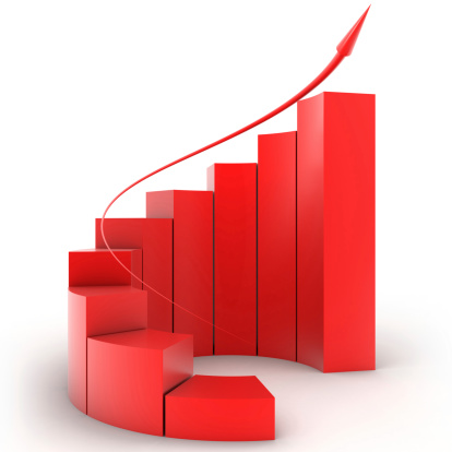 Clip Art「Three-dimensional red bar graph spiral staircase」:スマホ壁紙(5)