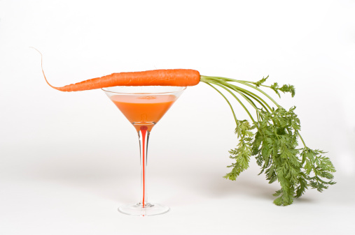 Vegetable Juice「Juice and a fresh carrot with greens」:スマホ壁紙(15)