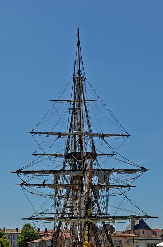 Nouvelle-Aquitaine「Masts of a sailing boat」:スマホ壁紙(18)