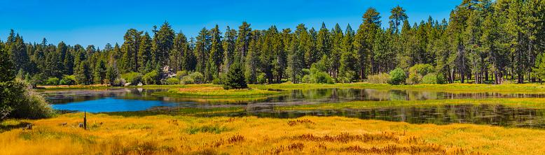 リゾート「大きなベア湖のサンバーナーディーノ国立の森、CA でブラフ湖」:スマホ壁紙(18)