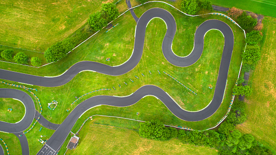 Motor Racing Track「Abandoned Go-Cart track - aerial view」:スマホ壁紙(12)