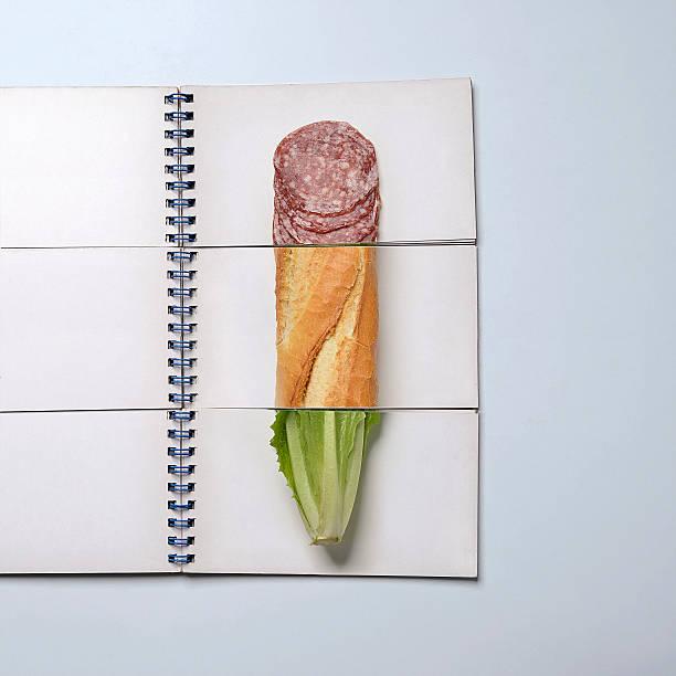 Mix and match book showing sandwich ingredients:スマホ壁紙(壁紙.com)