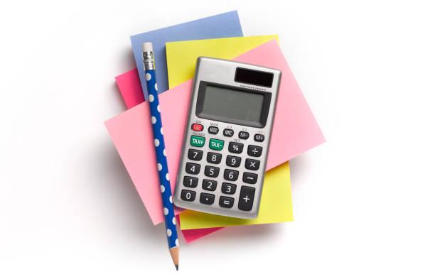 Note pad, calculator and pencil:スマホ壁紙(壁紙.com)