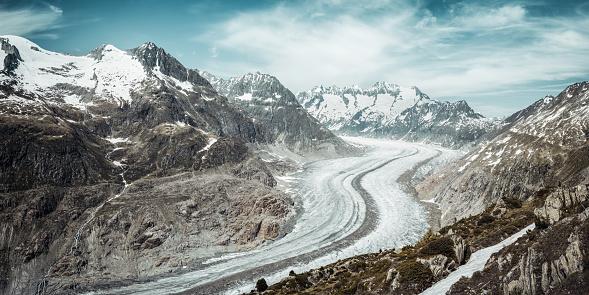 European Alps「Aletschgletscher」:スマホ壁紙(1)