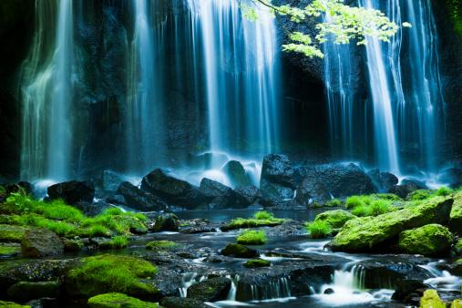 Satoyama - Scenery「Japanese Waterfalls」:スマホ壁紙(15)