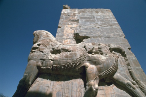 Iranian Culture「The site of Persepolis, Iran, Low Angle View」:スマホ壁紙(15)