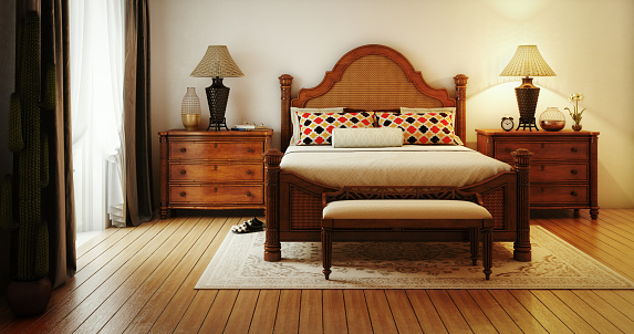 Bedroom「Refined Caribbean Styling Master Bedroom」:スマホ壁紙(7)