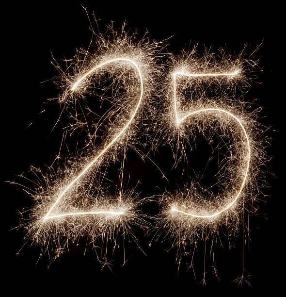 Sparkling celebration number 25:スマホ壁紙(壁紙.com)