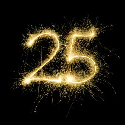 記念日「輝くお祝いの数25」:スマホ壁紙(17)