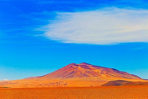 Bolivian Andes「Majestic Atacama Desert altiplano, volcanic landscape under cloudscape, Chile」:スマホ壁紙(9)