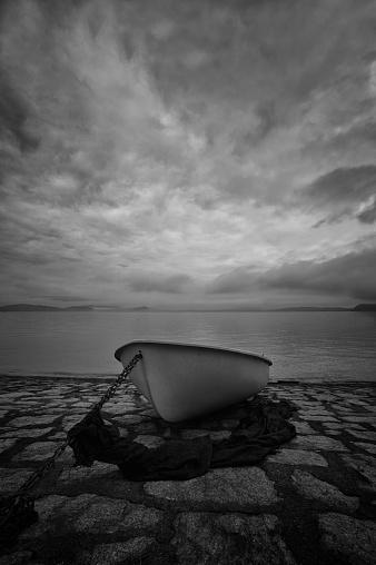 Black And White Instant Print「Italian lake District」:スマホ壁紙(18)