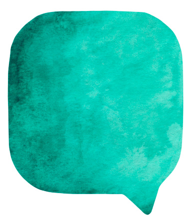 Art And Craft「Prussian Green watercolour speech bubble」:スマホ壁紙(17)