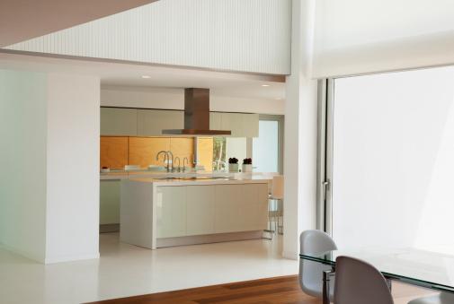 Kitchen Counter「Open living space of modern house」:スマホ壁紙(9)