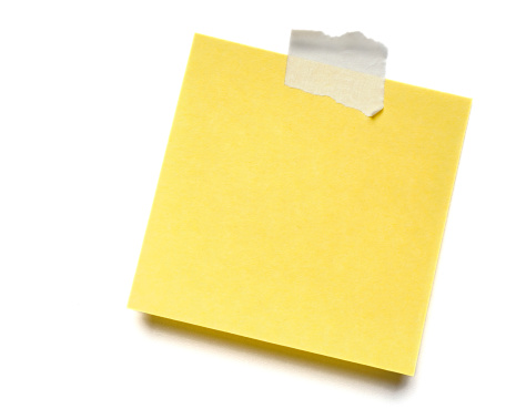 Adhesive Note「Yellow isolated Post-it Note」:スマホ壁紙(10)