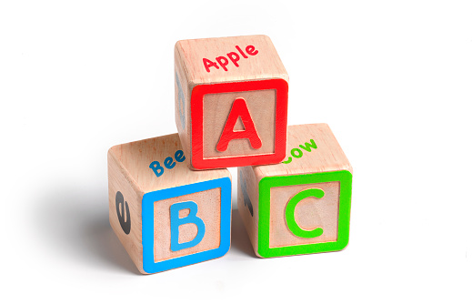 Letter B「ABC education building blocks」:スマホ壁紙(15)