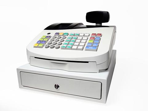 Event「Modern Push button cash register isolated on white」:スマホ壁紙(7)