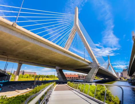 Footbridge「Boston - North Bank Walkway and Zakim Bridge」:スマホ壁紙(4)