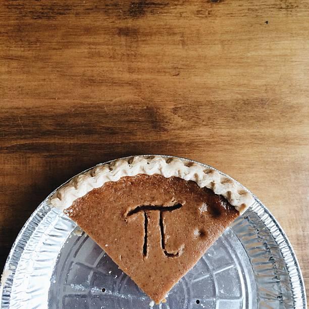 Pumpkin pie with Pi symbol:スマホ壁紙(壁紙.com)