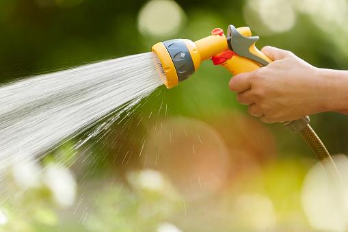 Hose「Watering Garden with Water Spray Gun」:スマホ壁紙(12)
