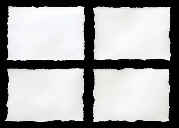 Four torn pieces of paper on a black background:スマホ壁紙(壁紙.com)