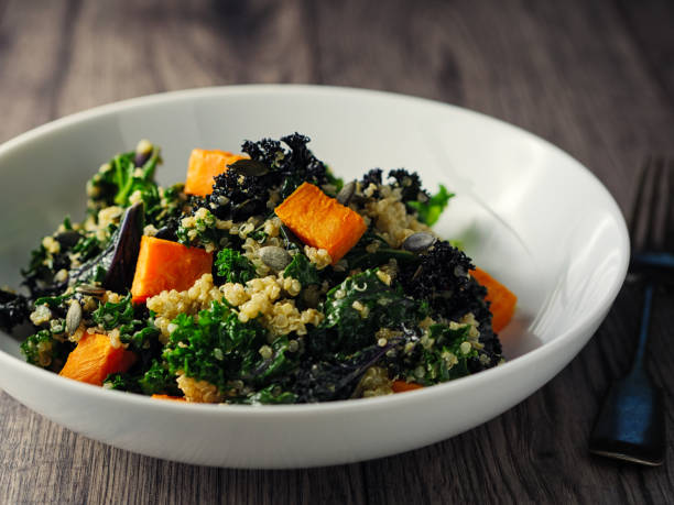 quinoa and kale salad with roasted sweet potatoes:スマホ壁紙(壁紙.com)