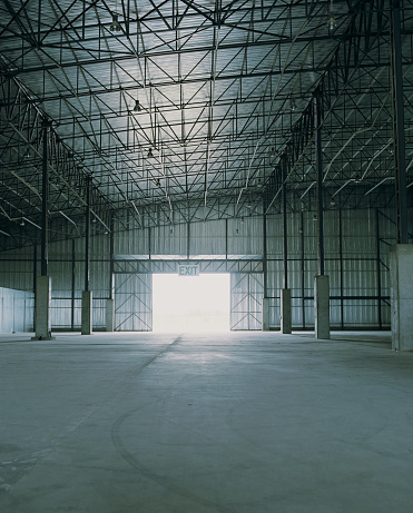 Part of a Series「Empty warehouse, light shining through door」:スマホ壁紙(11)