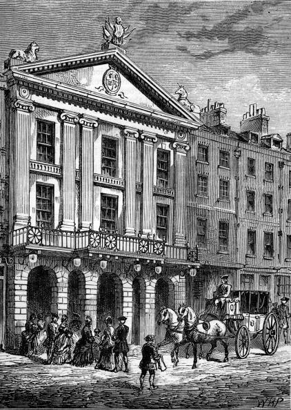 City Life「Front view of the  Drury Lane Theatre, London, 18th century」:写真・画像(10)[壁紙.com]