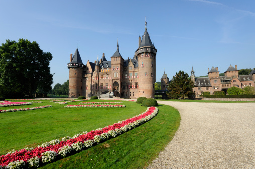 Utrecht「Front view of castle De Haar in the Netherlands」:スマホ壁紙(7)