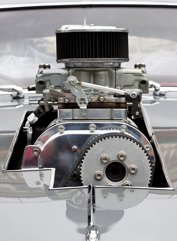 Belt「Front view of Chrome Supercharger car engine Hot Rod」:スマホ壁紙(5)