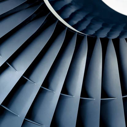 Swirl Pattern「Front view close-up of aircraft jet engine turbine」:スマホ壁紙(12)