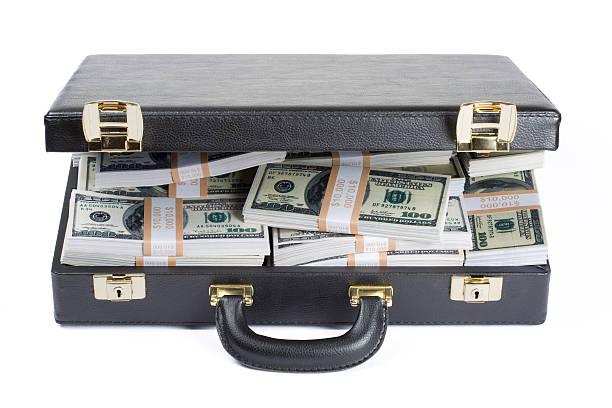 Briefcase full of dollars:スマホ壁紙(壁紙.com)