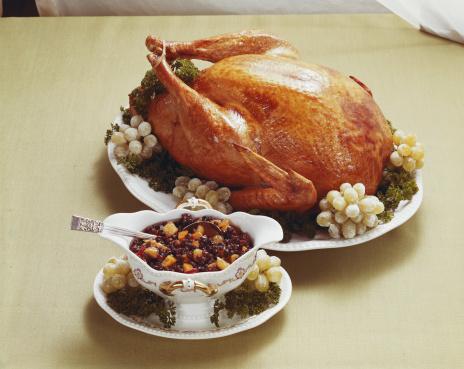 1969「Roasted turkey with fruits, close-up」:スマホ壁紙(13)